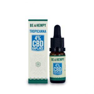 4% CBD kapljice z bio kokosovim oljem TropiCanna 10ml