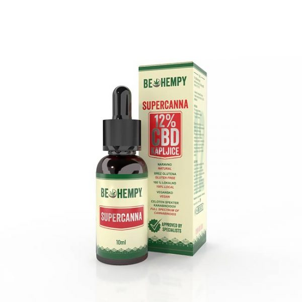 Be hempy 12% CBD konopljine kapljice SuperCanna 10ml