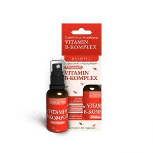 Vitamin B Kompleks naravno ustno pršilo Holistic, 30 ml