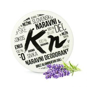 Naravni deodorant z aktiviranim ogljem, z vonjem vonjem nežne sivke in verbene