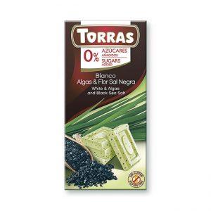 Bela čokolada z algami in črno morsko soljo, 75g