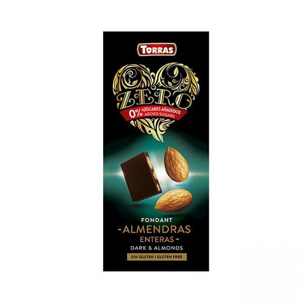 Temna čokolada s sladilom in mandlji, 150g