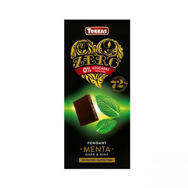 Temna čokolada s sladilom in meto, 100g