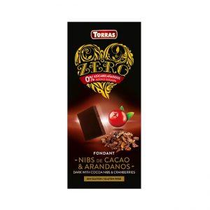 Temna čokolada s sladilom, kakavom in brusnicami, 125g