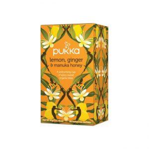 Pukka čaj Limona, ingver in Manuka med