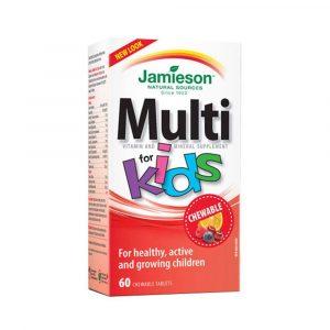 Jamieson MultiVitamini in Minerali za otroke, bonboni v obliki živali (60 bonbonov)