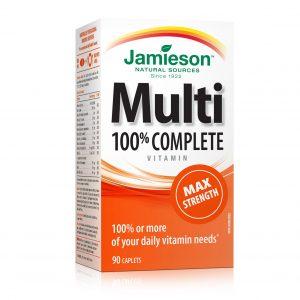 Jamieson MultiVitamini in Minerali maksimalna moč (90 tablet)