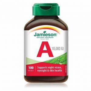 Jamieson Vitamin A 3.000 μg ,100 kapsul