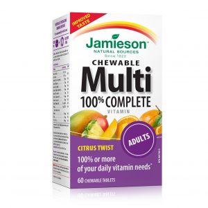 Jamieson MultiVitamini in Minerali za odrasle (60 žvečljivih bonbonov)