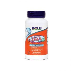 NOW OTROŠKA OMEGA-3 DHK, 100 mg, 60 mehkih žvečljivih kapsul