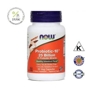 NOW PROBIOTIC-10™, 25 milijard, 50 kapsul