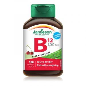 Jamieson Vitamin B12 češnja, 100 tablet
