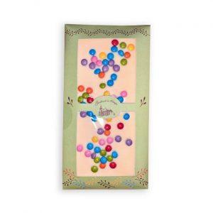 Čokoladnica OLIMJE- Bela čokolada z draže bonboni 100g