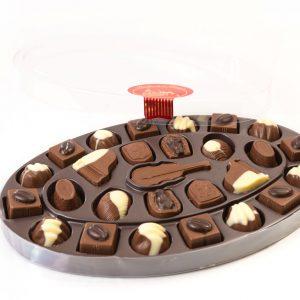 Čokoladnica Olimje Bonboniera Velika oval 420g