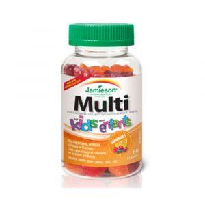 Jamieson Multi Kids multivitaminsko mineralni želejčki, 60 želejčkov