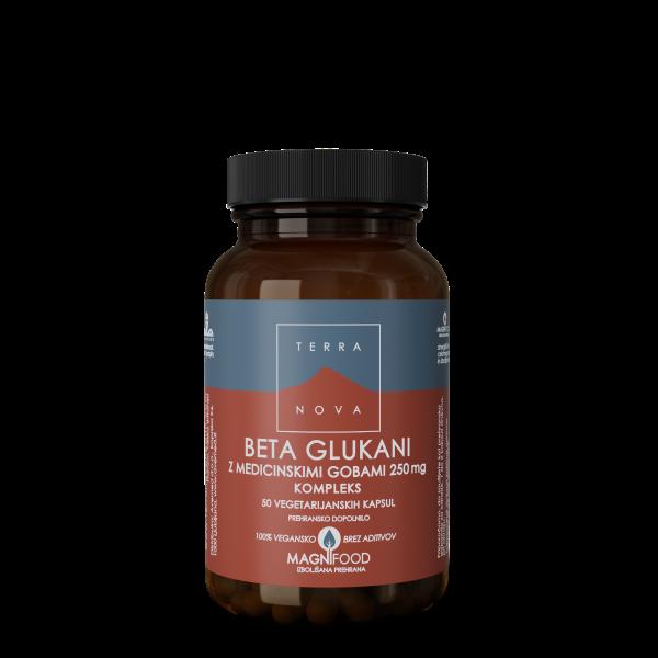 TERRANOVA Beta glukani z medicinskimi gobami 250 mg, kompleks